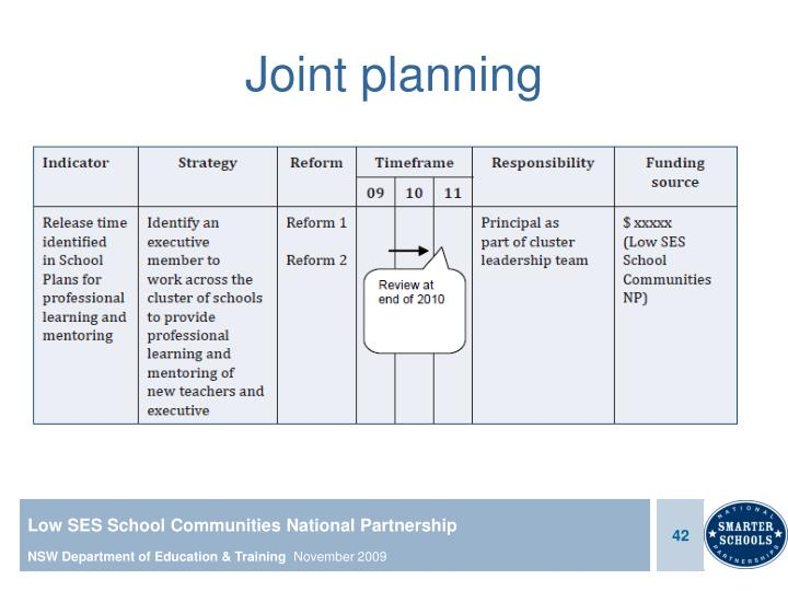 Joint planning