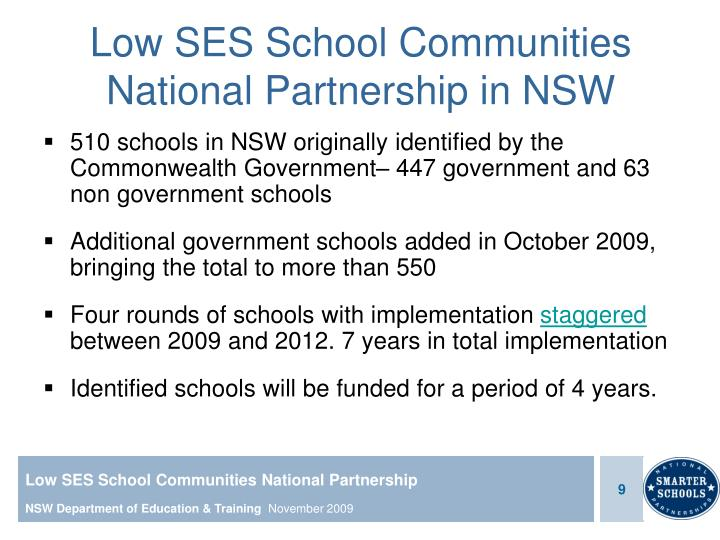 Low SES School Communities National Partnership in NSW