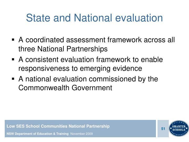 State and National evaluation