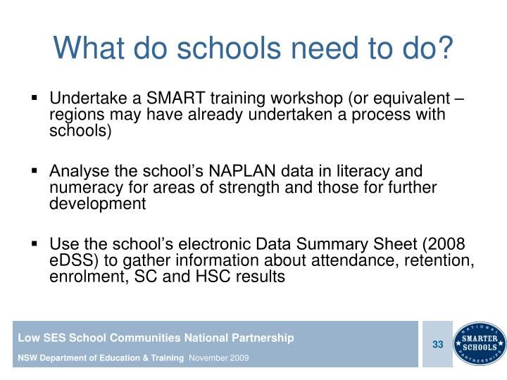 What do schools need to do?