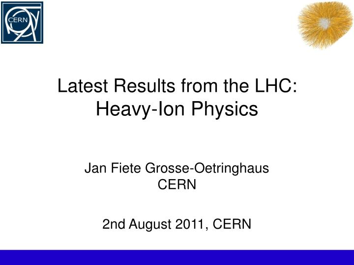 latest results from the lhc heavy ion physics n.