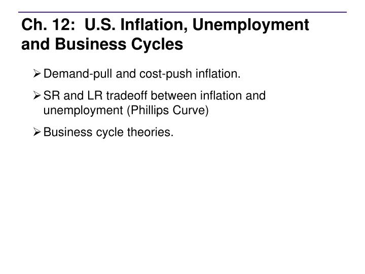 ch 12 u s inflation unemployment and business cycles n.