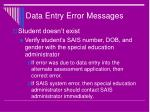 data entry error messages