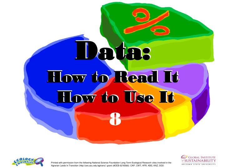 data how to read it how to use it n.