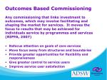 outcomes based commissioning