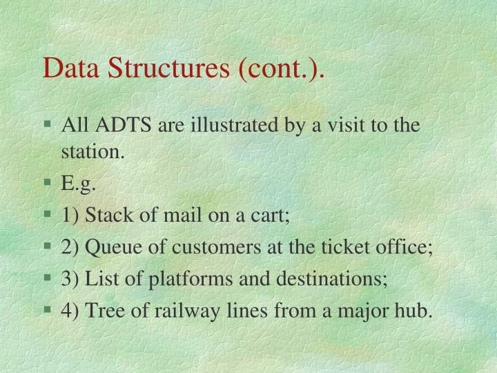 Data Structures (cont.).