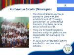 autonom a escolar nicaragua