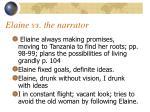 elaine vs the narrator