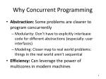 why concurrent programming