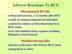 adverse reactions to bcg