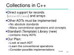 collections in c