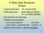 c style data structures arrays