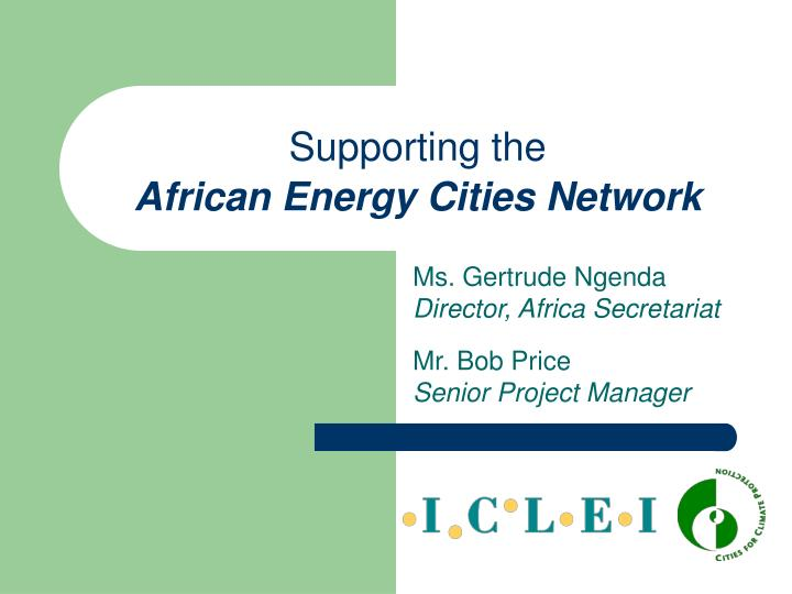 supporting the african energy cities network n.