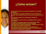 c mo act an