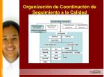 organizaci n de coordinaci n de seguimiento a la calidad