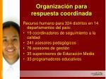 organizaci n para respuesta coordinada