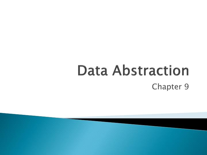 data abstraction n.