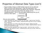properties of abstract data types con t