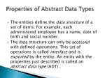 properties of abstract data types