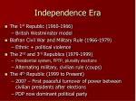 independence era