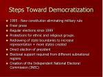 steps toward democratization