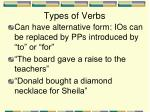 types of verbs12