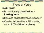types of verbs8