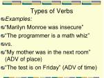 types of verbs9