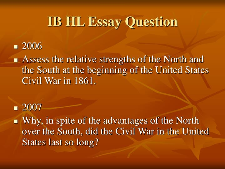 north and south essay questions