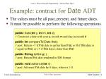 example contract for date adt1