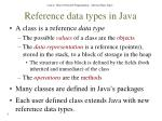 reference data types in java