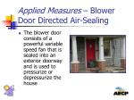applied measures blower door directed air sealing1