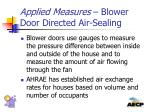 applied measures blower door directed air sealing2