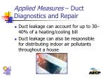 applied measures duct diagnostics and repair