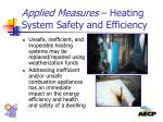 applied measures heating system safety and efficiency1