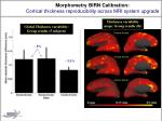 morphometry birn calibration cortical thickness reproducibility across mri system upgrade