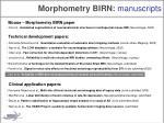 morphometry birn manuscripts1
