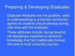 preparing developing graduates