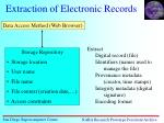 extraction of electronic records