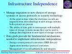 infrastructure independence