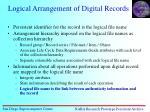 logical arrangement of digital records