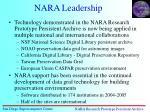 nara leadership