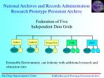national archives and records administration research prototype persistent archive
