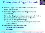 preservation of digital records