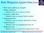 risk mitigation against data loss