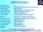 srb developers