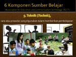6 komponen sumber belajar association for education and communication technology aect4