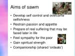 aims of sawm