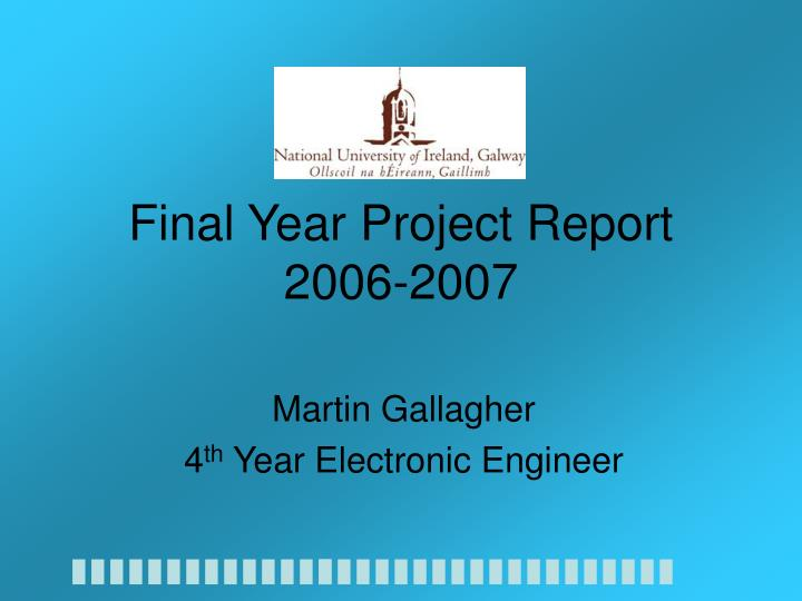 final year project report 2006 2007 n.