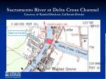 sacramento river at delta cross channel
